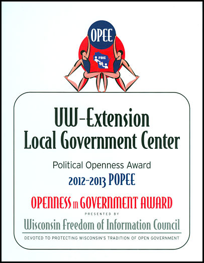 Politicial Openness in Government Award