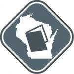 Graphic of state of Wisconsin and open book representing Wisconsin Open Government Laws